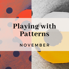 Playing with Patterns, art techniques to create patterns