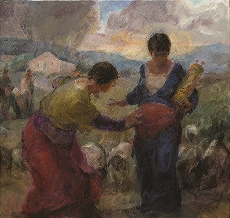 The Visitation painting by Bob Booth
