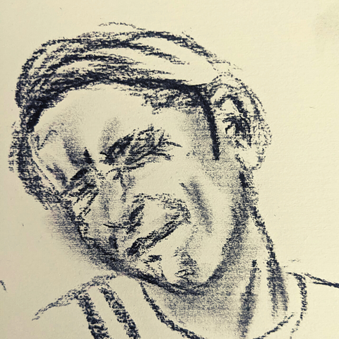 draw yourself pulling a face, self portrait exercise