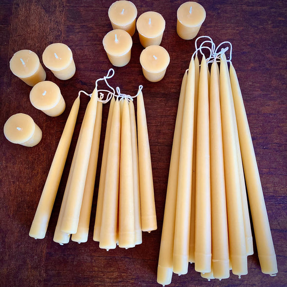 Beeswax Candles || Various Sizes