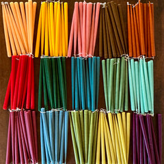 "Rainbow Taper Candles 13"" Pair"