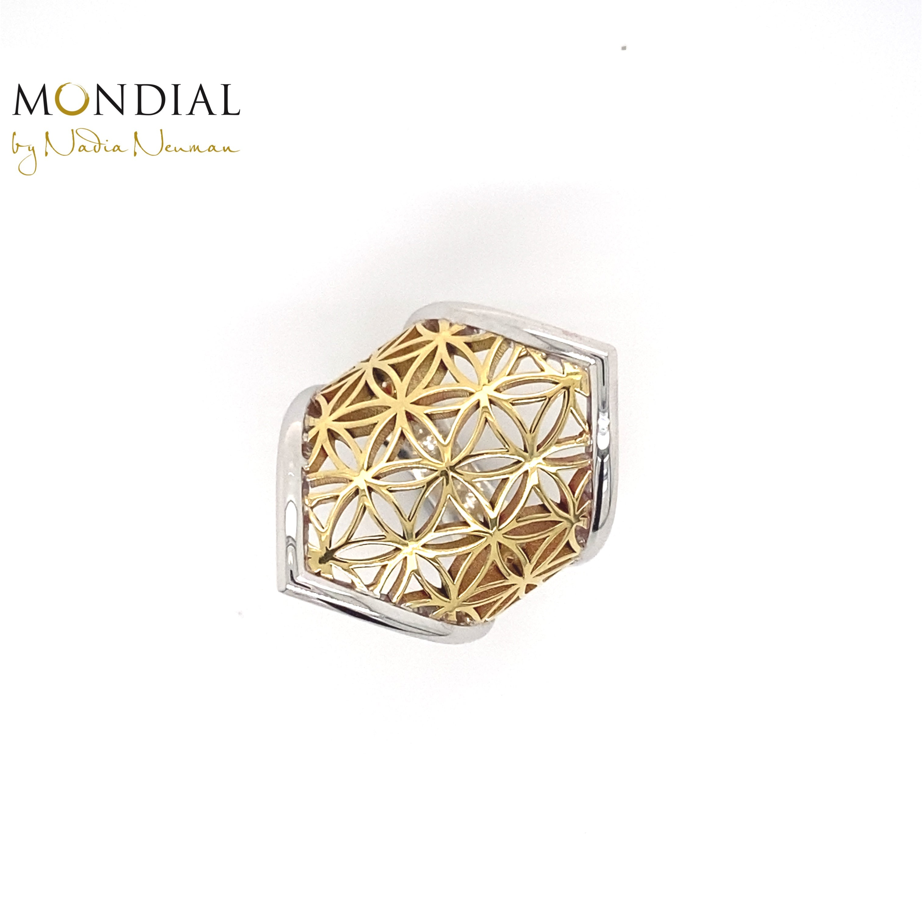 Flower of Life Long Ring. Mandala Collection