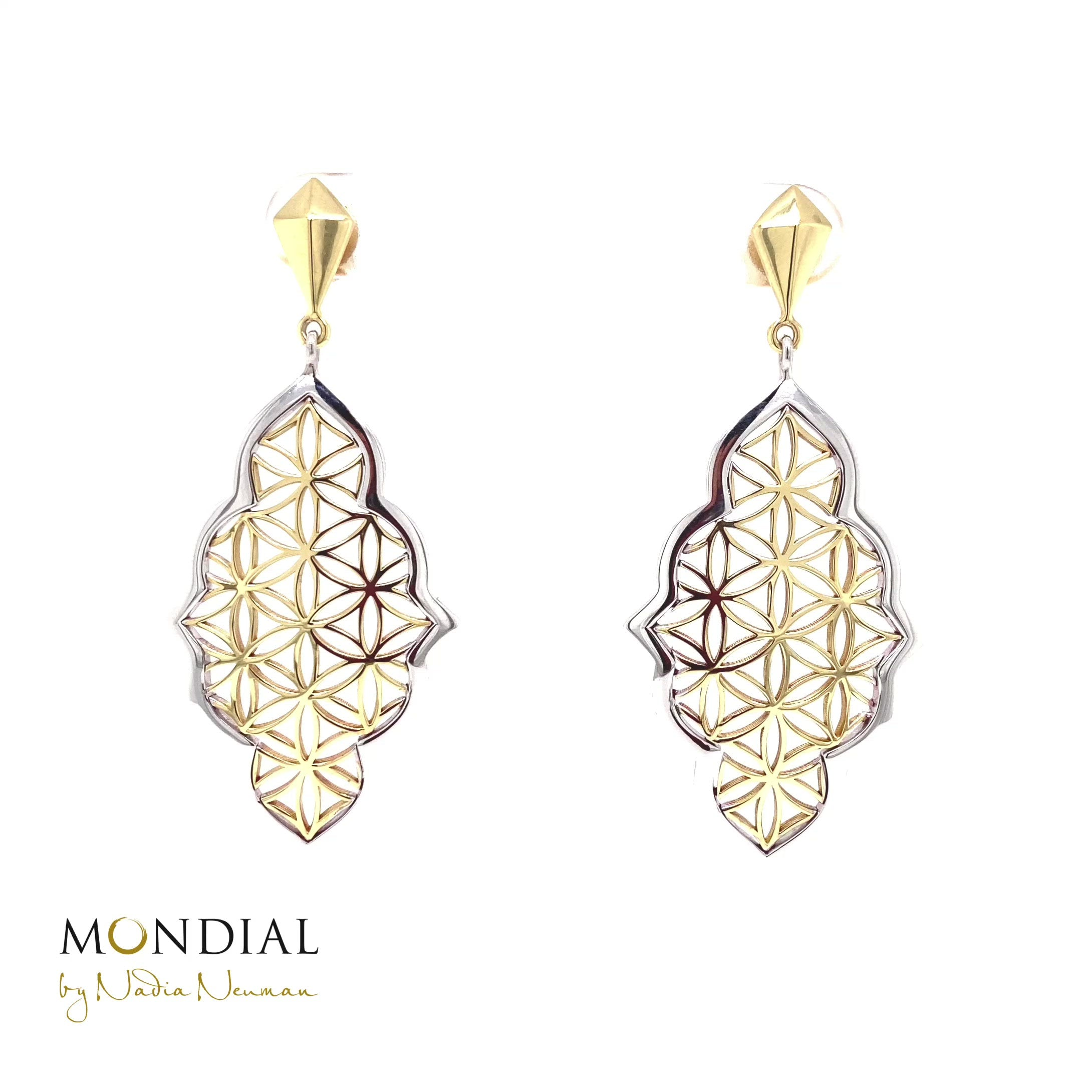 Mandala Earrings Flower of Life Design