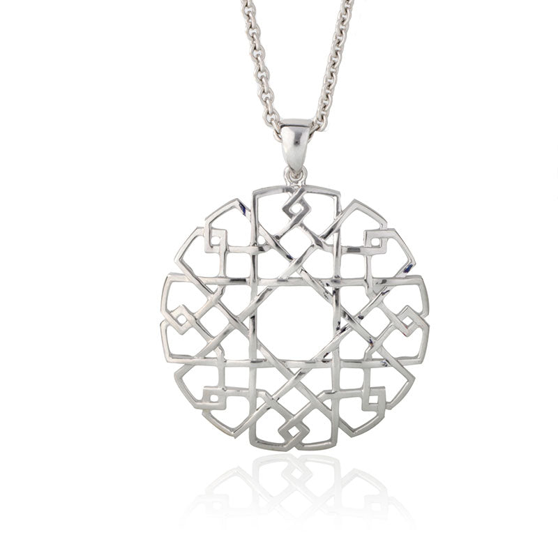 'Mandala' Large Geometric Collection Pendant