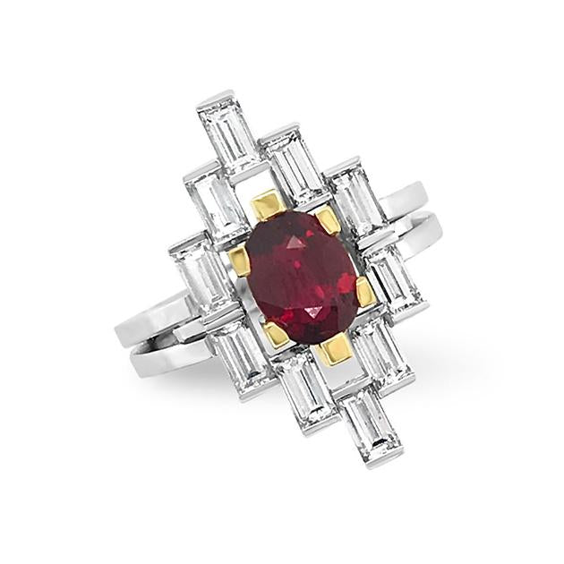 Manhattan Design Ruby & Diamond Ring