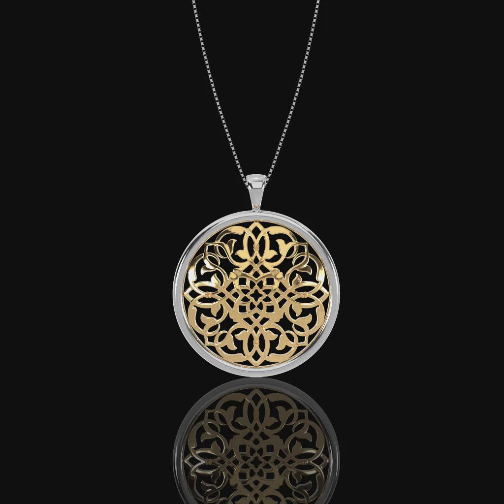 'Mandala' Large Mosaic Collection Diamond Pendant
