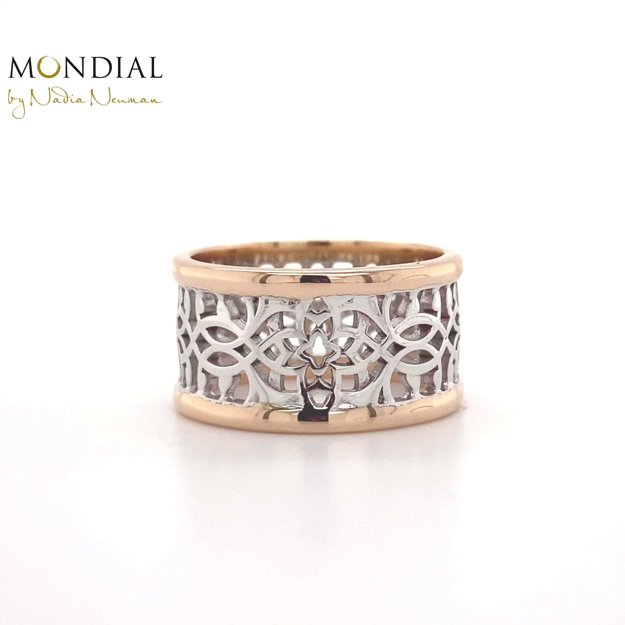 Mosaic Wide Band. Mandala Collection