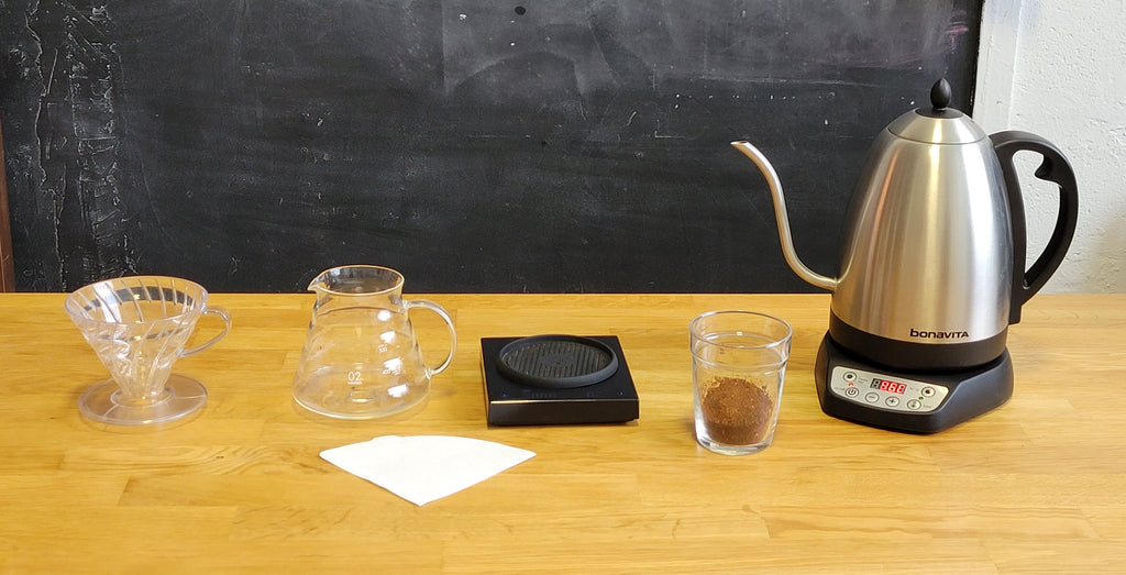 all you need to brew pour-over iced coffee