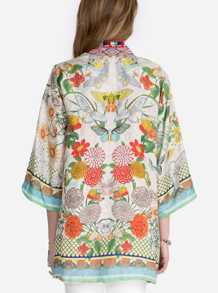 Load image into Gallery viewer, Claret Kimono (Reversible)