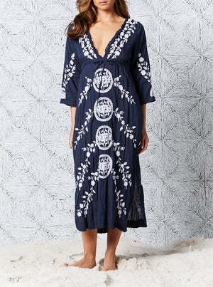 Embroidery Long Byron Dress