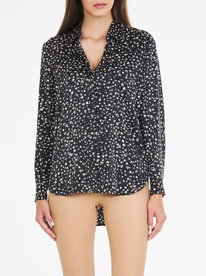 Load image into Gallery viewer, Luxe Silk Animal Print Classic Shirt