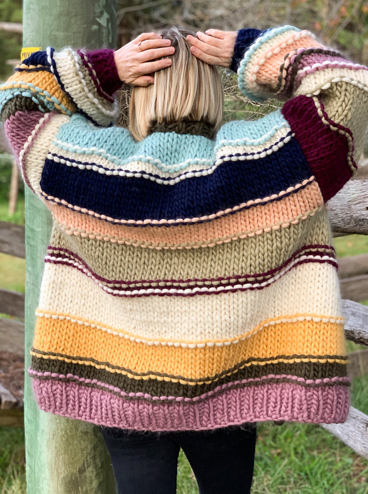 Load image into Gallery viewer, Multistripe Cardi