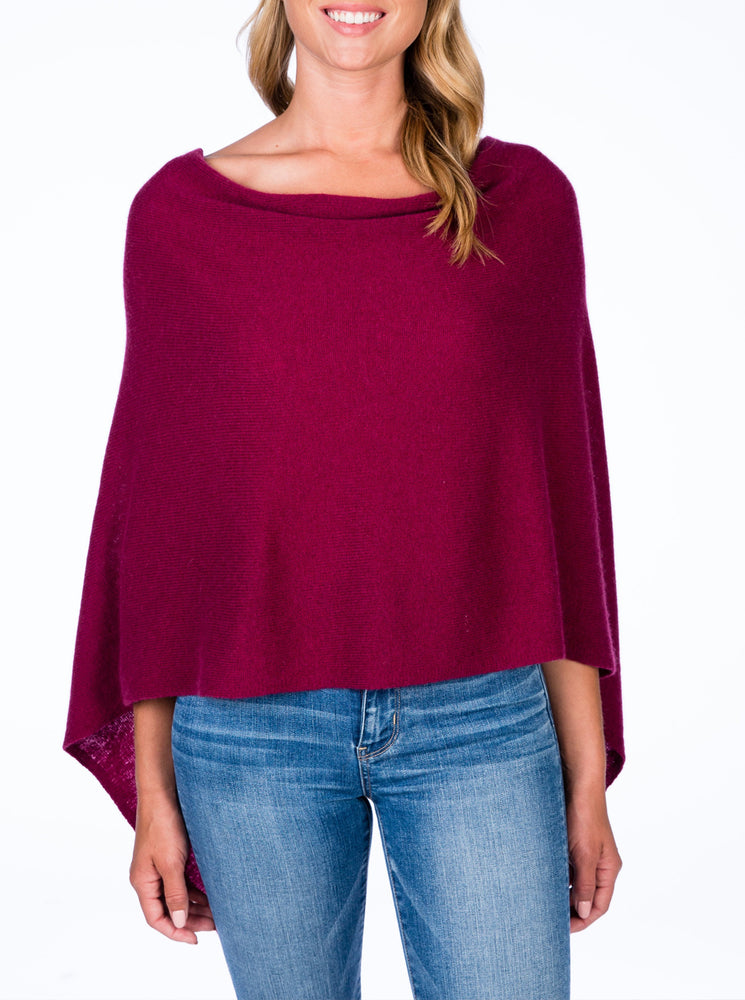 Load image into Gallery viewer, Cashmere Topper Cranberry