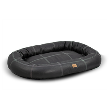 Load image into Gallery viewer, Large Leather Dog Bed - Black