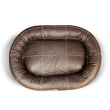 Load image into Gallery viewer, Small Leather Dog Bed - Walnut Brown