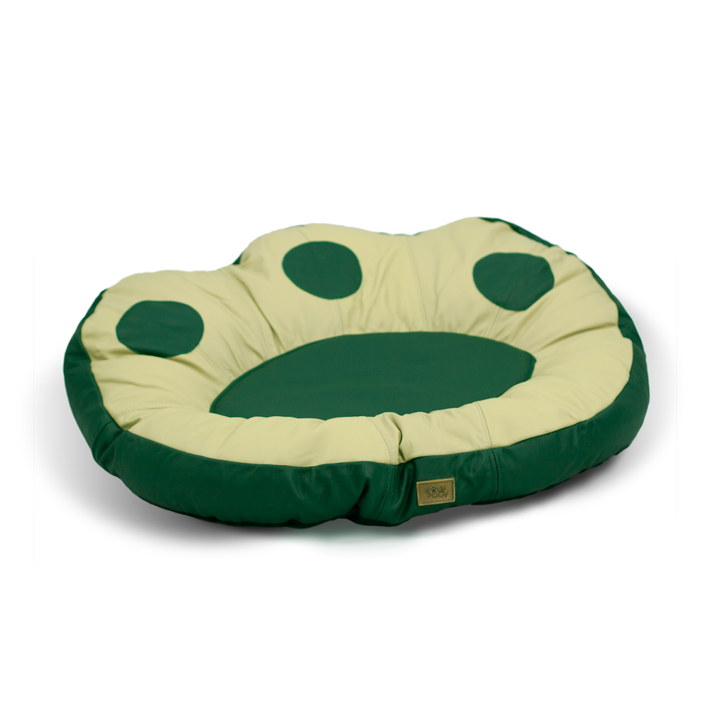 The Paw Dog Bed - Green Leather