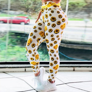 Buy online High Quality 3D Sunflower Leggings - Vital Fitness Gear