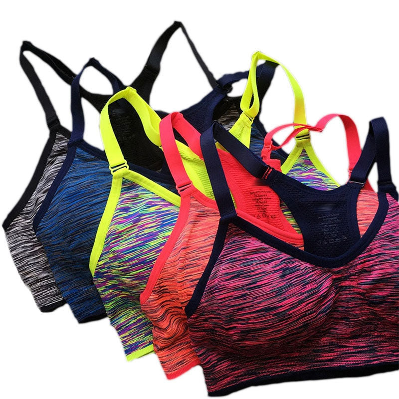 Buy online High Quality Quick Dry Sports Bra,Women Padded Wirefree Adjustable Shakeproof Fitness Underwear Sports Bras - Vital Fitness Gear