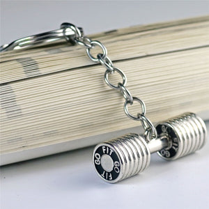 Buy online High Quality Stainless Steel Dumbbell Keychain - Vital Fitness Gear