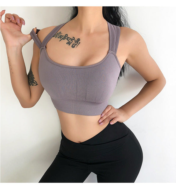Buy online High Quality Double Shoulders Shockproof Sports Bra - Vital Fitness Gear