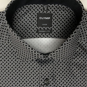 Chemise Olymp Luxor coupe droite noire