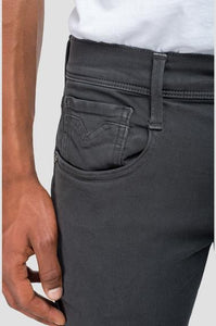 Jeans toile slim Hyperflex Replay gris