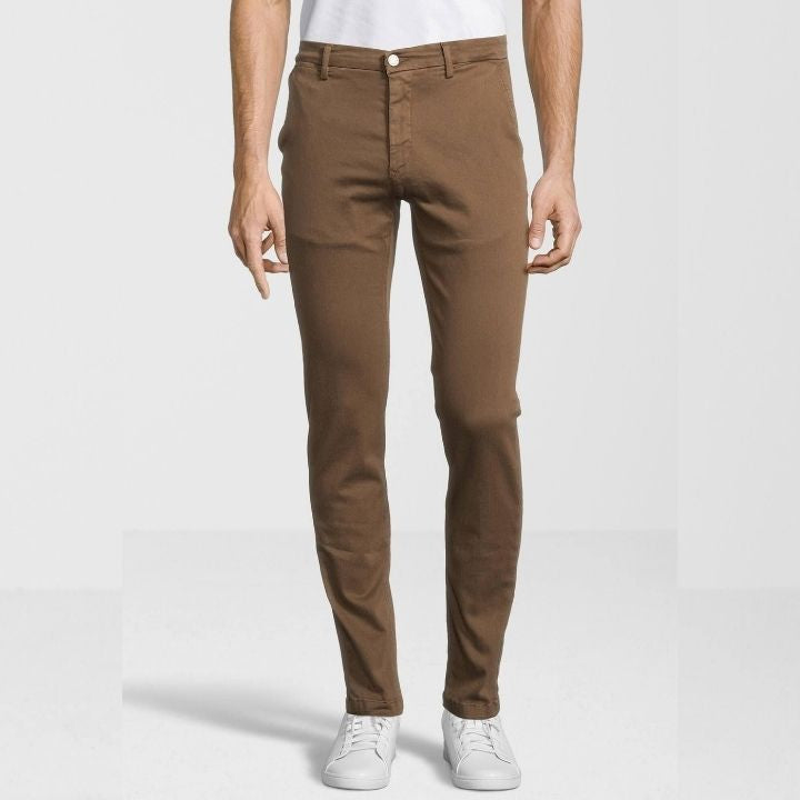 Pantalon chino slim Replay marron