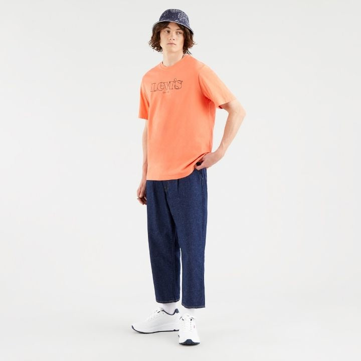T-Shirt logo poitrine Levi's® orange coton