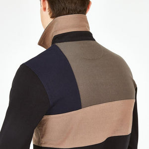 Polo manches longues Eden Park color-block