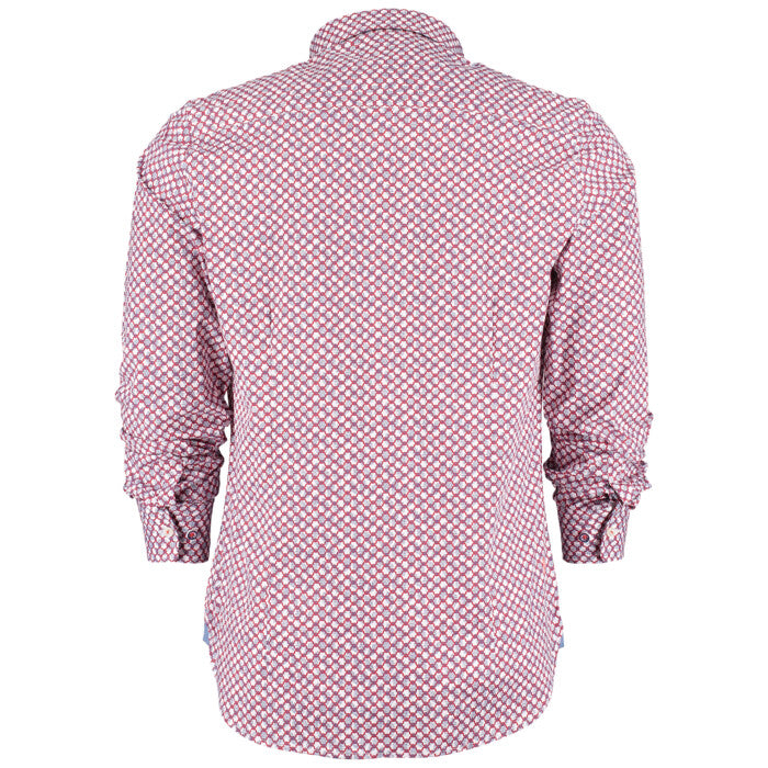 Chemise NZA Darfield rouge en coton