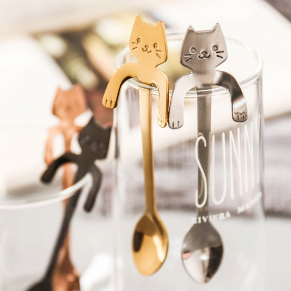 Cute Cat Coffee Spoons Tea spoon,Stainless Steel
