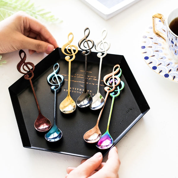 Coffee Spoon  - Stainless Steel Musical Note - CoffeeXpressions.com