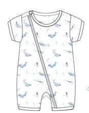 Load image into Gallery viewer, Tiny Twig Dolphin - Zipsuit Romper