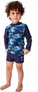 Milky Hawaiian Long Sleeve Rashy