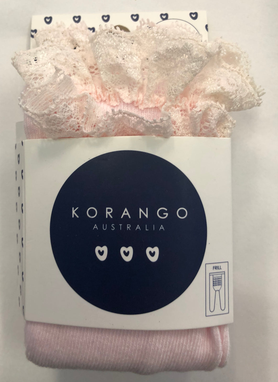 Korango Frill stocking - Pale Pink