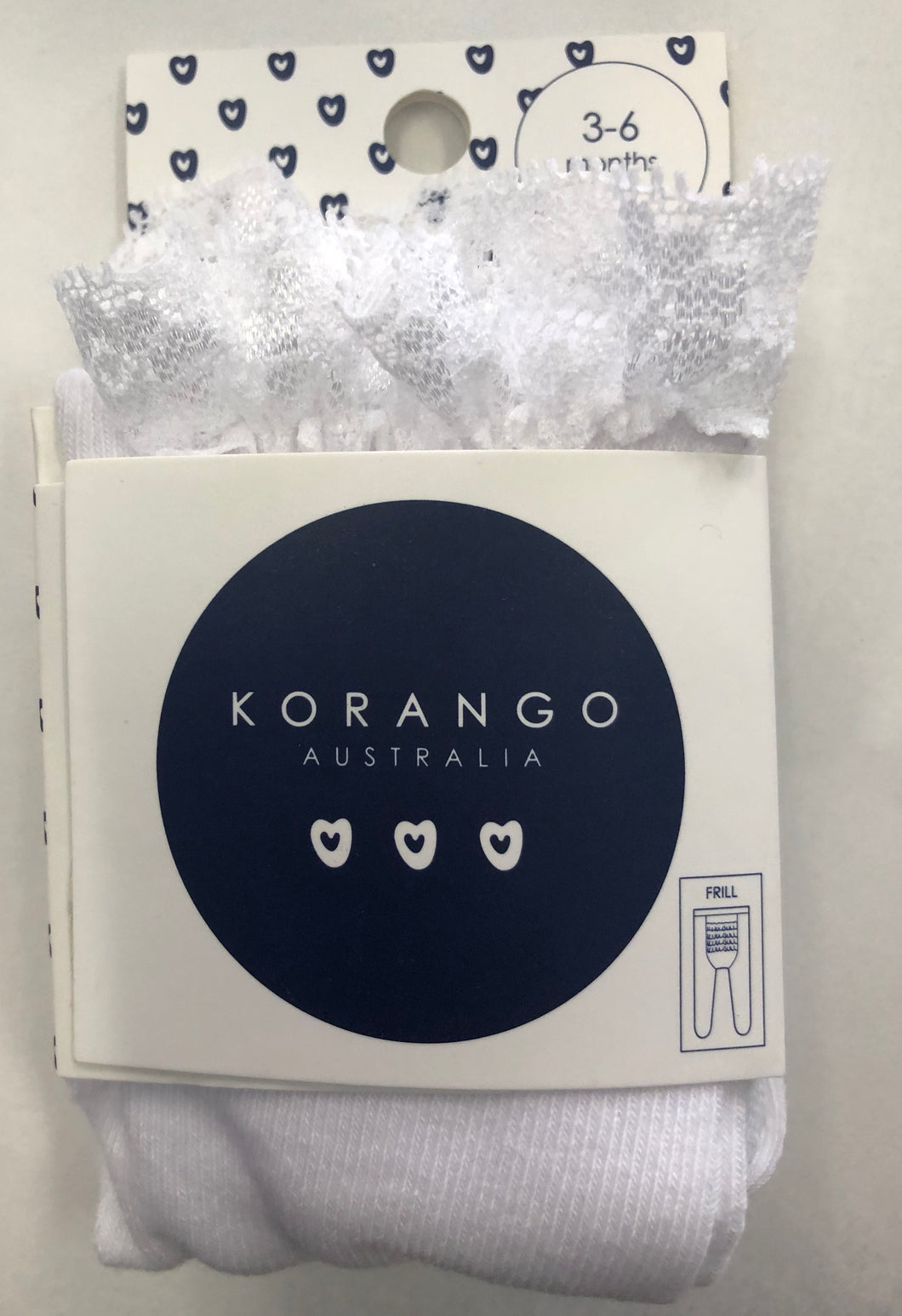 Korango Frill Stocking - white