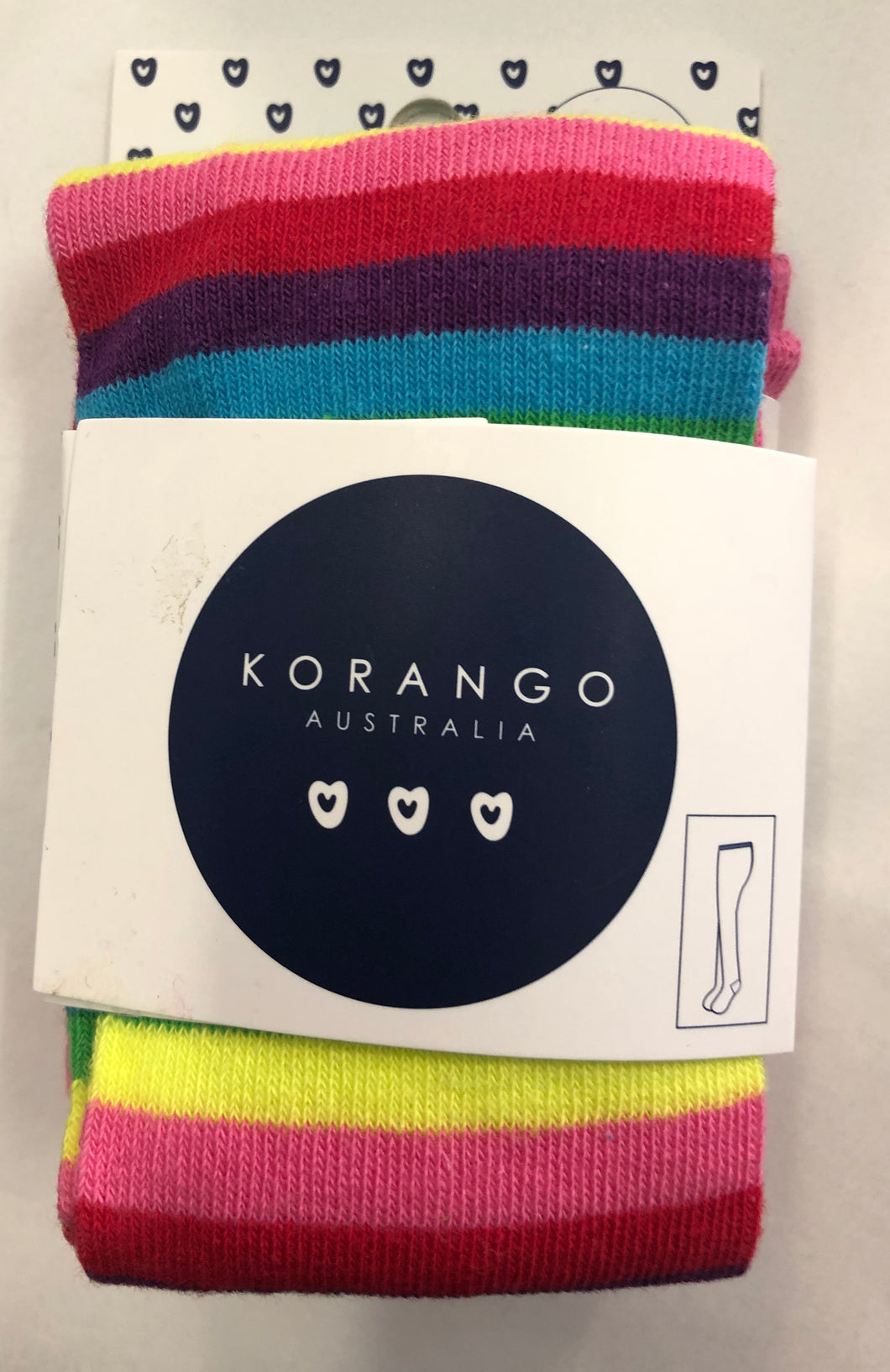 Korango Rainbow striped stocking