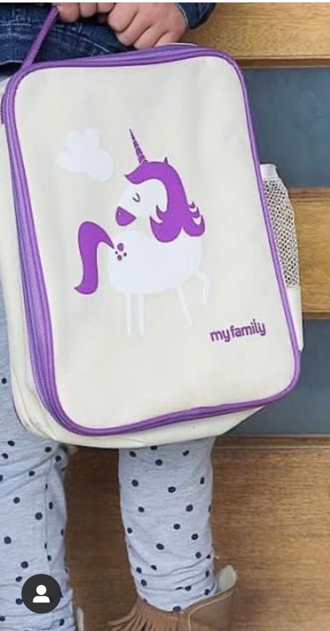 My Family Lunch Cooler Bag - Unicorn