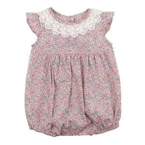 Bebe - Liberty - Swirling Petals Collar Romper