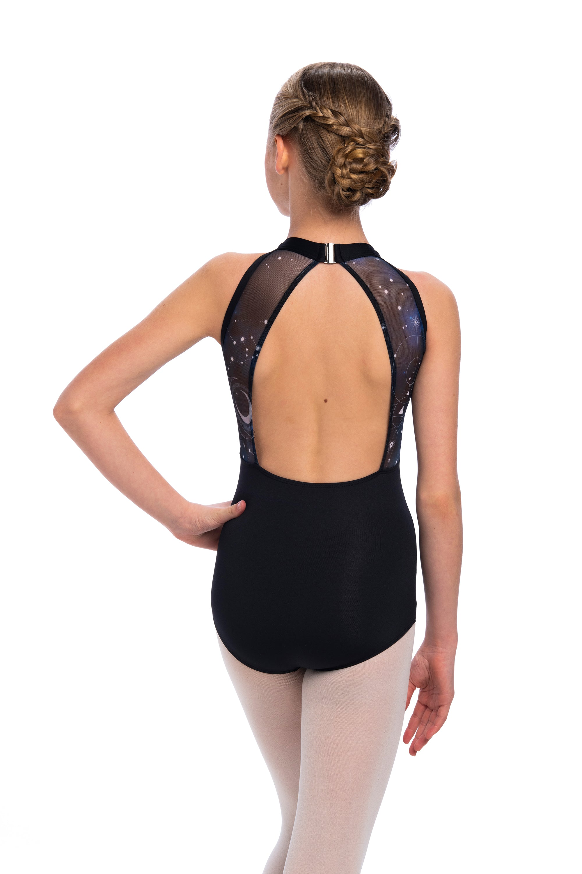 Vera Leotard with Night Sky Print- Girls