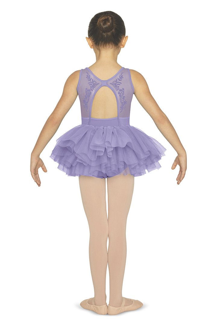 Mesh Open Bow Back Tutu Leotard CL5555