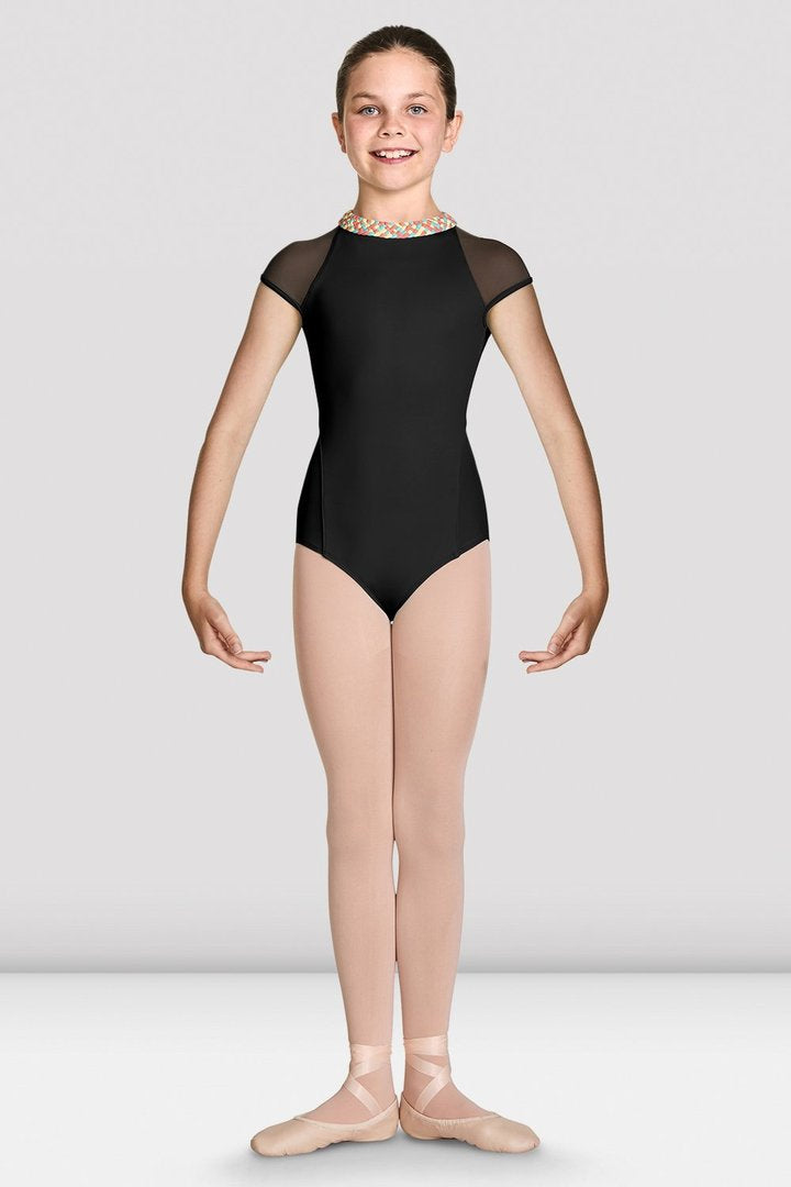 Gelato Weave Neck Cap Sleeve Leotard CL7862