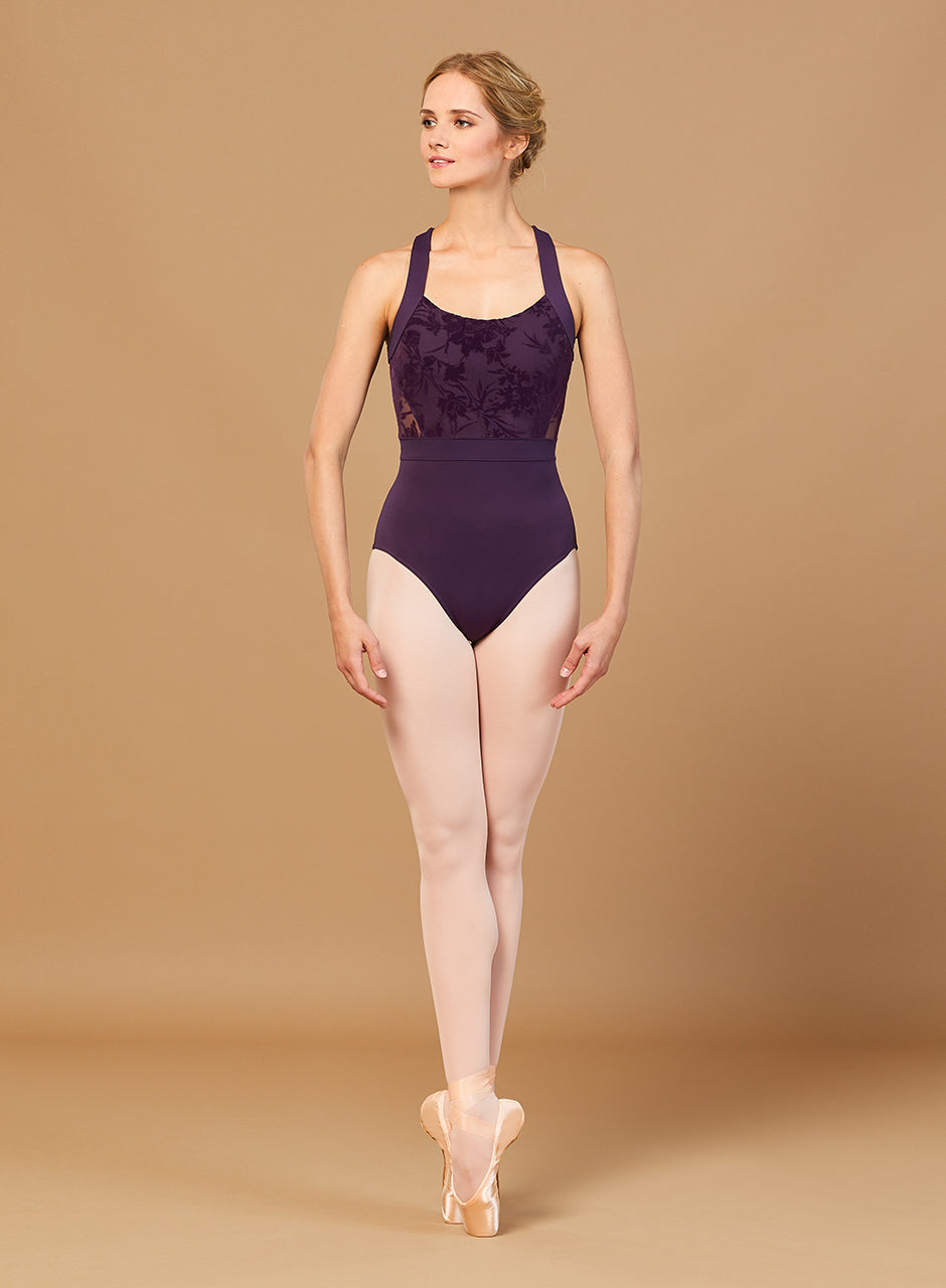 Sabel Floriade Mesh Wide Strap Leotard