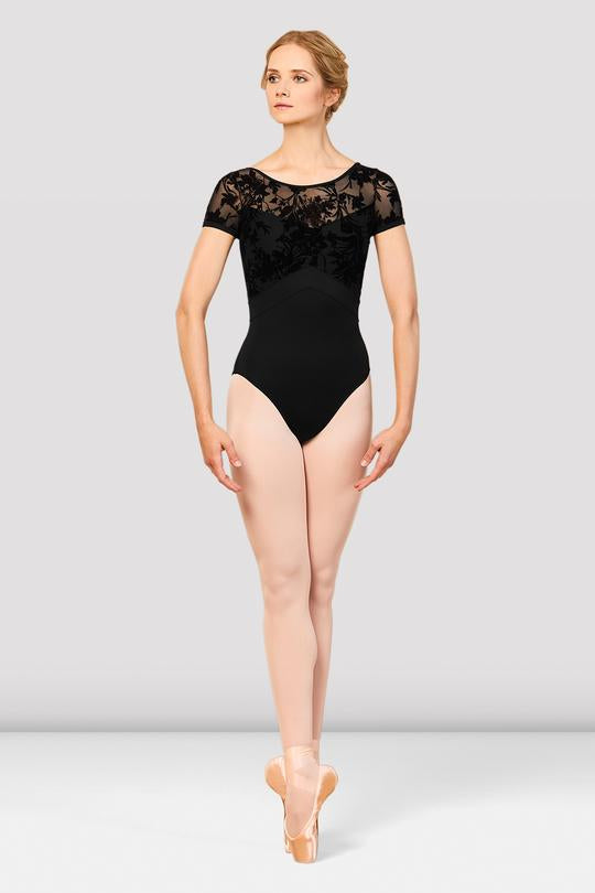 Eliana Mesh Back Cap Sleeve Leotard