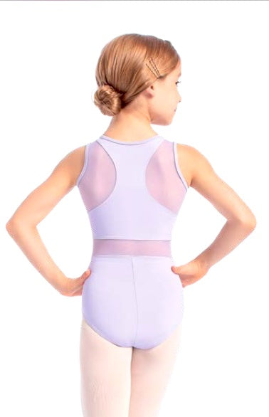 Eva Tank Leotard with Mesh Inserts- Child