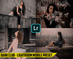 Dark Preset Pack - 4 Lightroom Mobile Presets 50% off