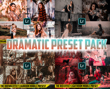 Load image into Gallery viewer, Dramatic Preset Pack - 4 Lightroom Mobile Presets 50% off