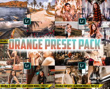 Load image into Gallery viewer, Orange Preset Pack - 4 Lightroom Mobile Presets 50% off