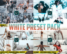 Load image into Gallery viewer, White Preset Pack - 4 Lightroom Mobile Presets 50% off