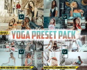 Yoga Preset Pack - 4 Lightroom Mobile Presets 50% off